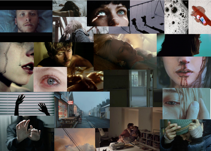 Mood Board showing some of our visual inspiration for DEAD QUIET