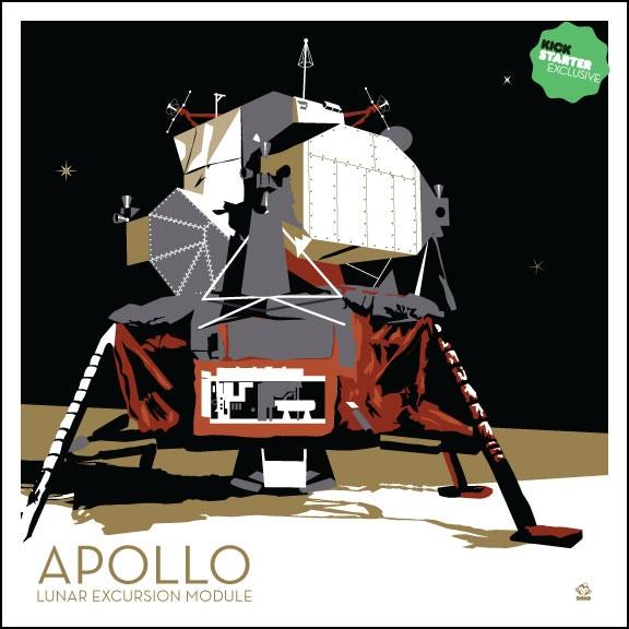KICKSTARTER EXCLUSIVE giclee Apollo Lunar Module Art Print