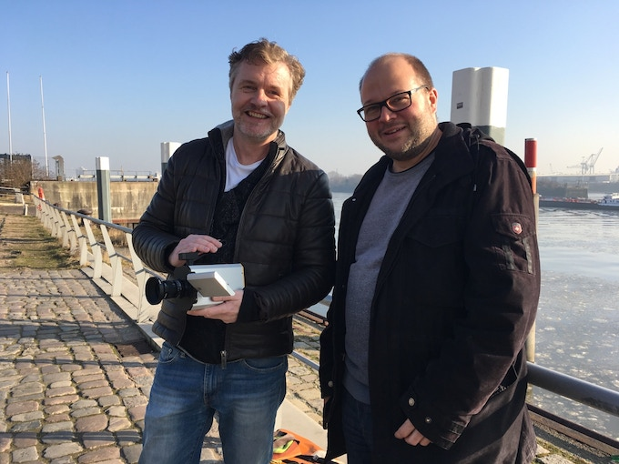 Yeah, the new Kodak Super 8 camera: Jürgen Lossau, founder of The Super 8 Web Portal, with Friedemann Wachsmuth, one of the authors.