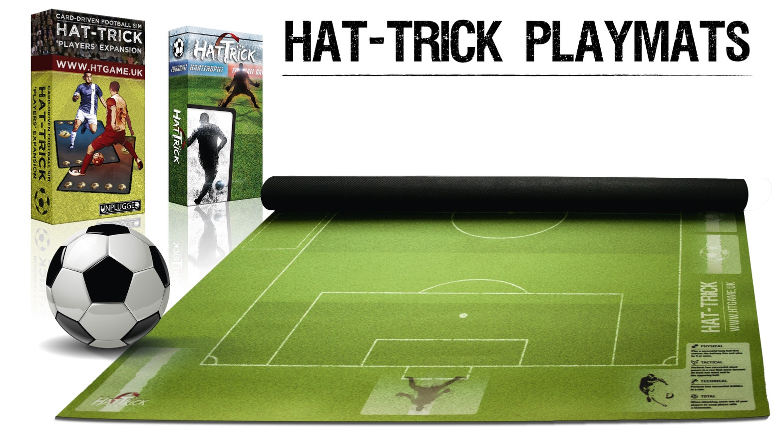 Strategy board game for football lovers. Now playable on an extremely durable high quality playmat.