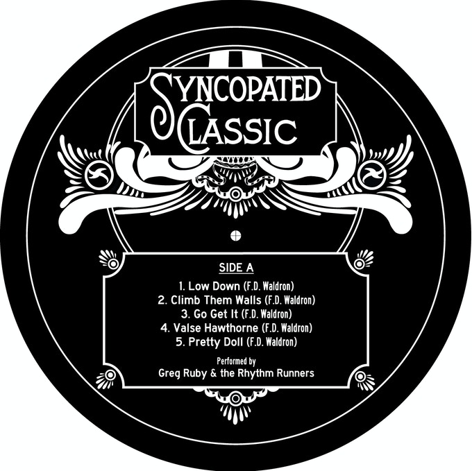 Record label design by Mike McDevitt - Side A (2017)