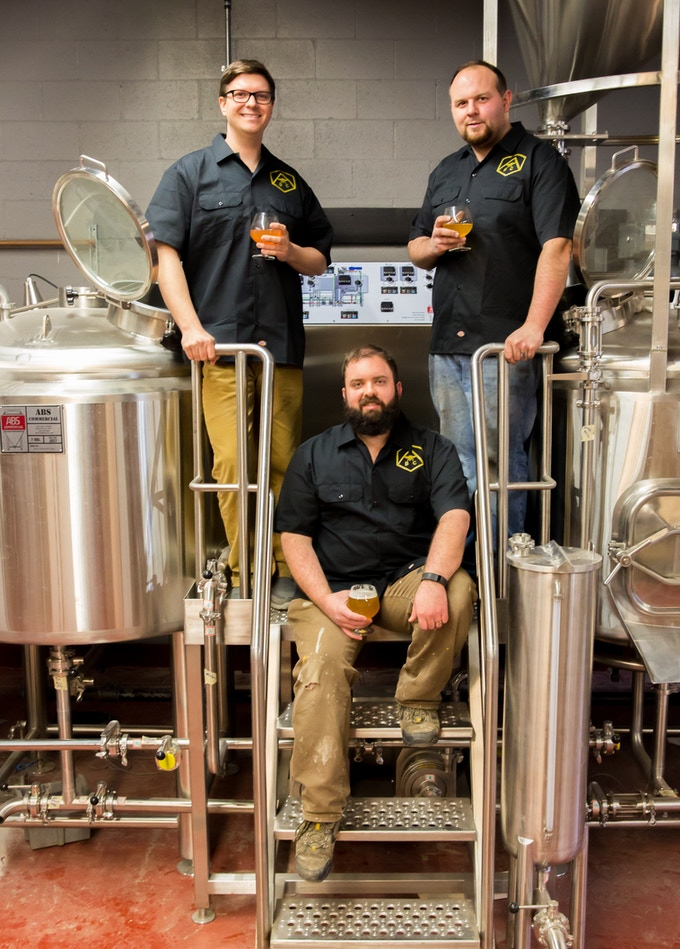 Left to right: Brian (Sales), Chris (Head Brewer), Mike (Operations)