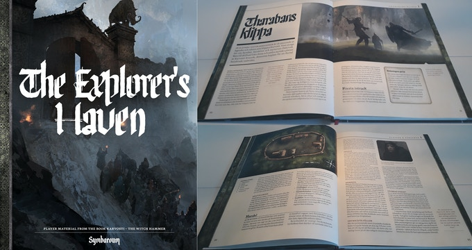 Inside images from the Swedish version of Karvosti - The Witch Hammer
