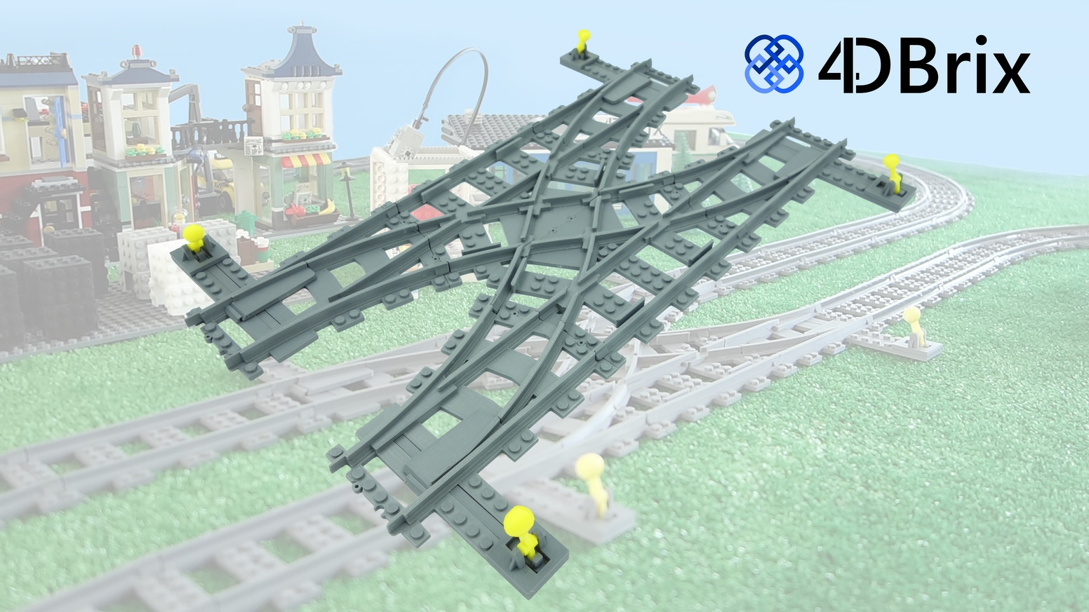 Modular Switch Track and Rail Yard System for LEGO® Trains by Lowa