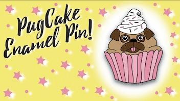 Pugcake Enamel Pin