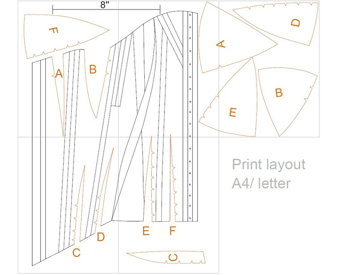 A sample of one of the digital corset pattern rewards