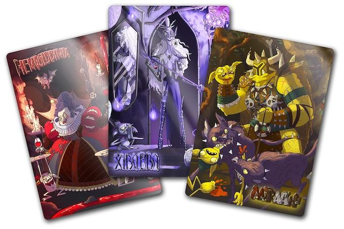 Dungeon Lord Cards - Hemoglobinia, Xibalba and M'Raa'h