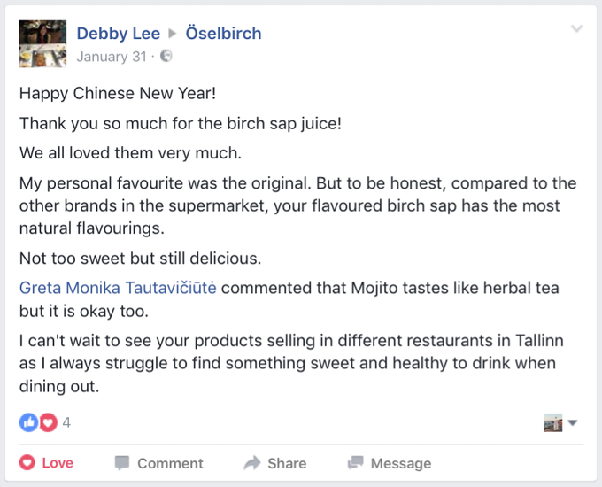 Comment by Debby Lee