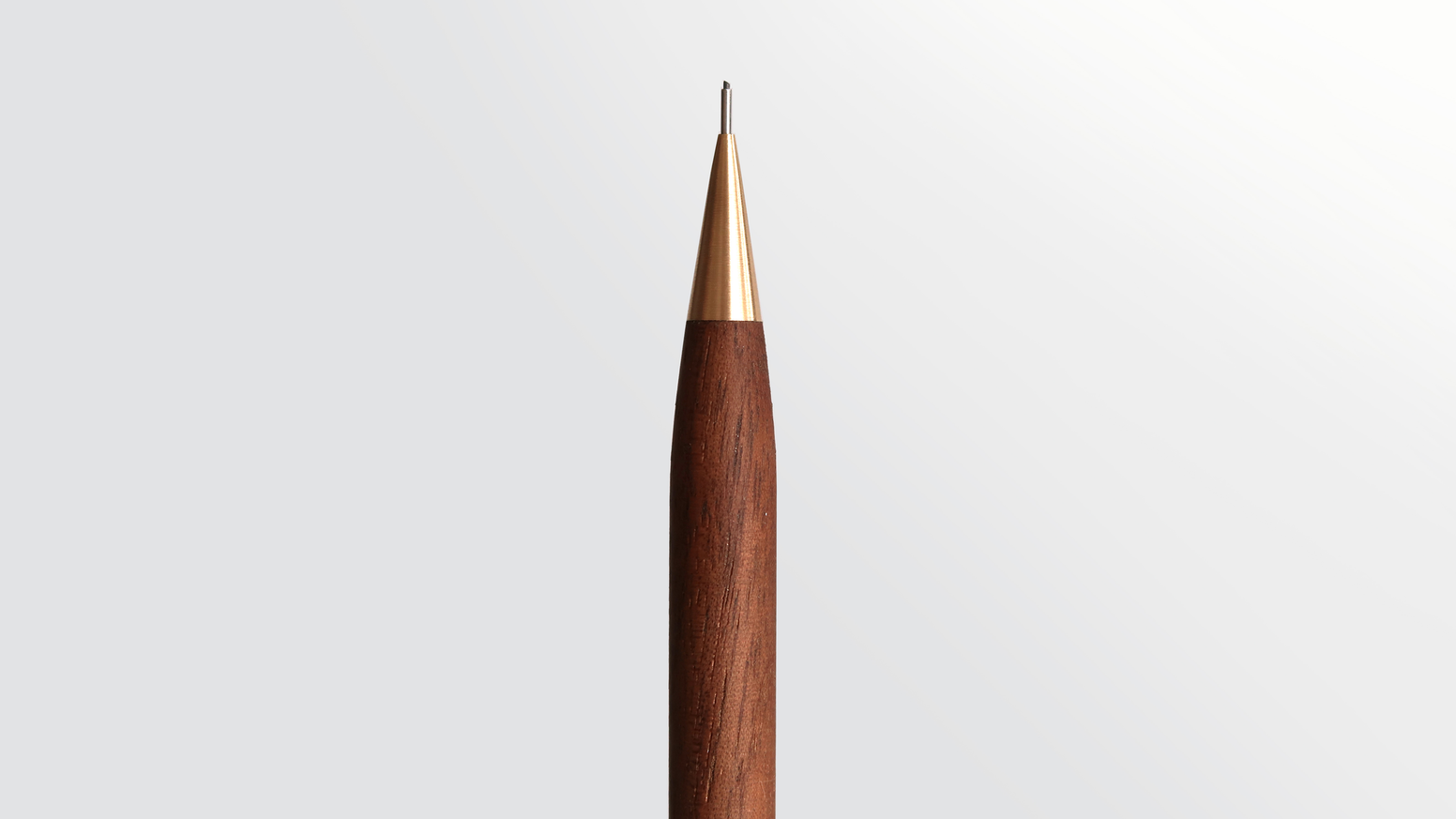 Handmade Ultra Light Walnut Brass Mechanical Pencil By Nicholas