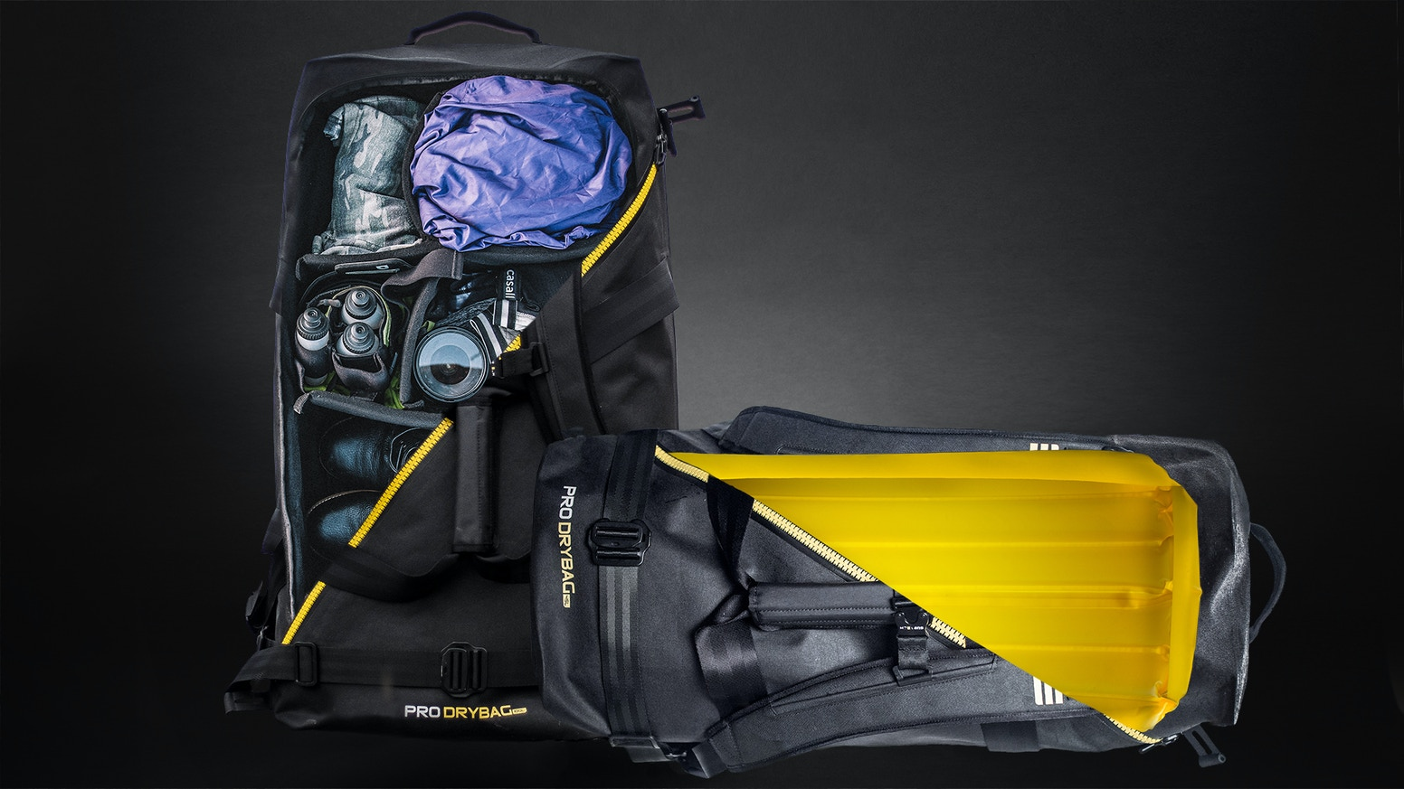Next generation of the world's most extreme duffel bag series | Waterproof (50m/164ft). Shockproof. Smart Pack System. Floating.
