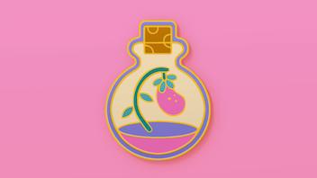Fruit Flask Enamel Pin