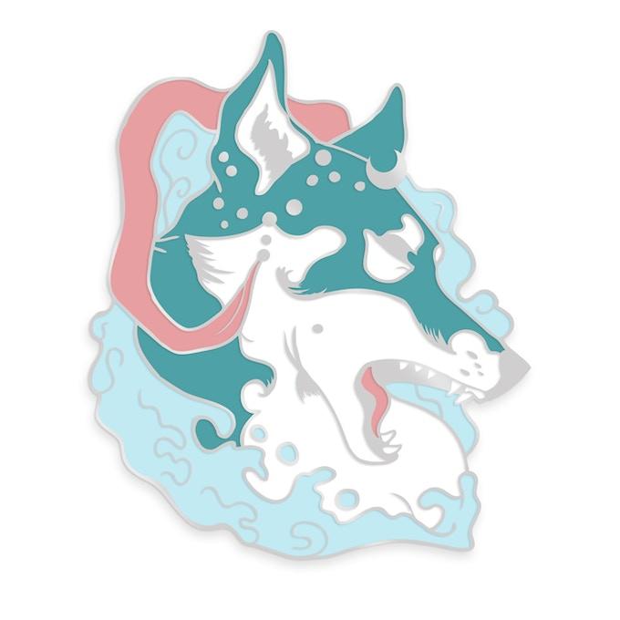 Elemental Wolf Enamel Pin by Rio Burton — Kickstarter