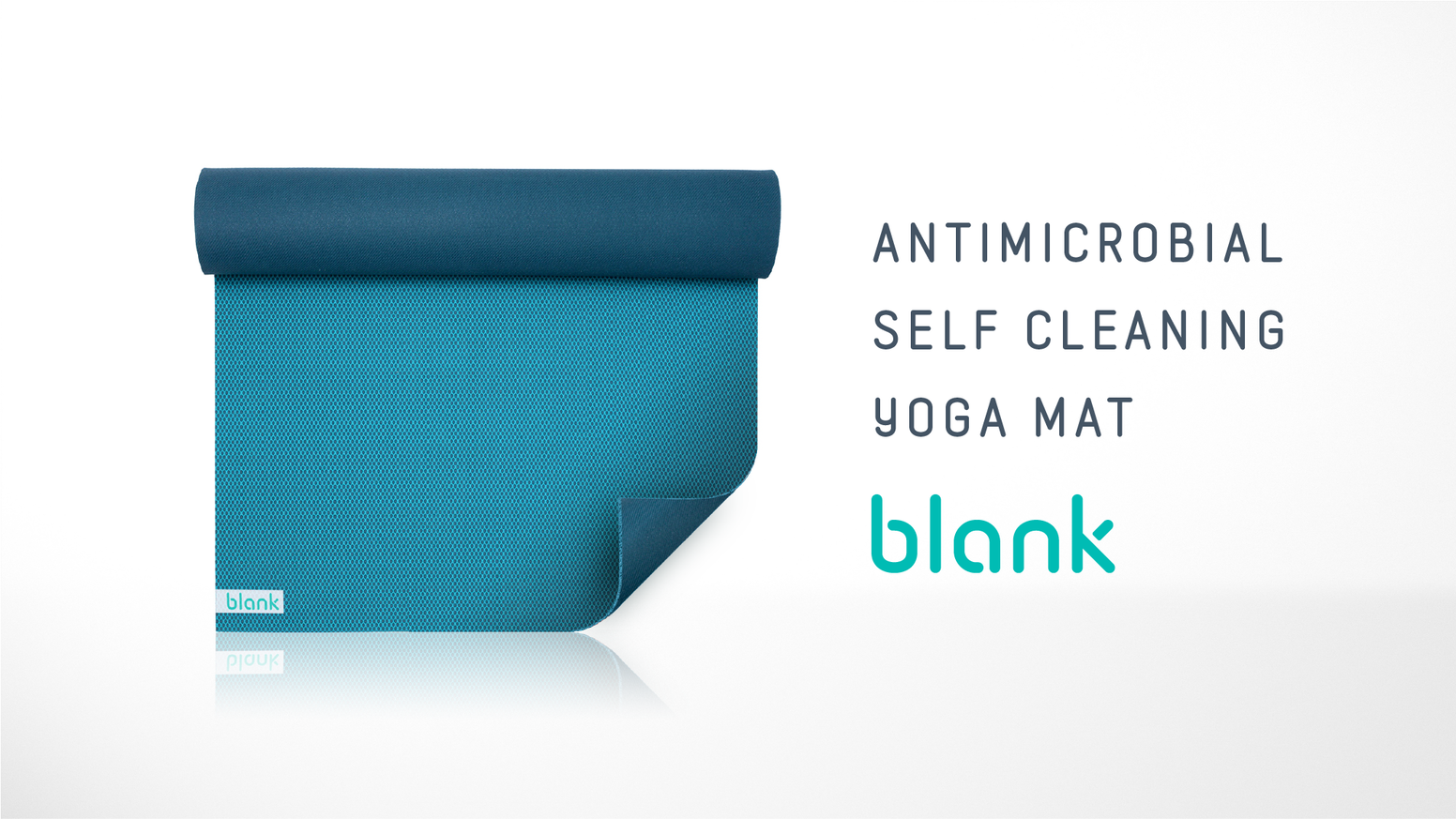 The first antimicrobial silver-infused yoga mat that doesn't stink no matter how intense you practice.