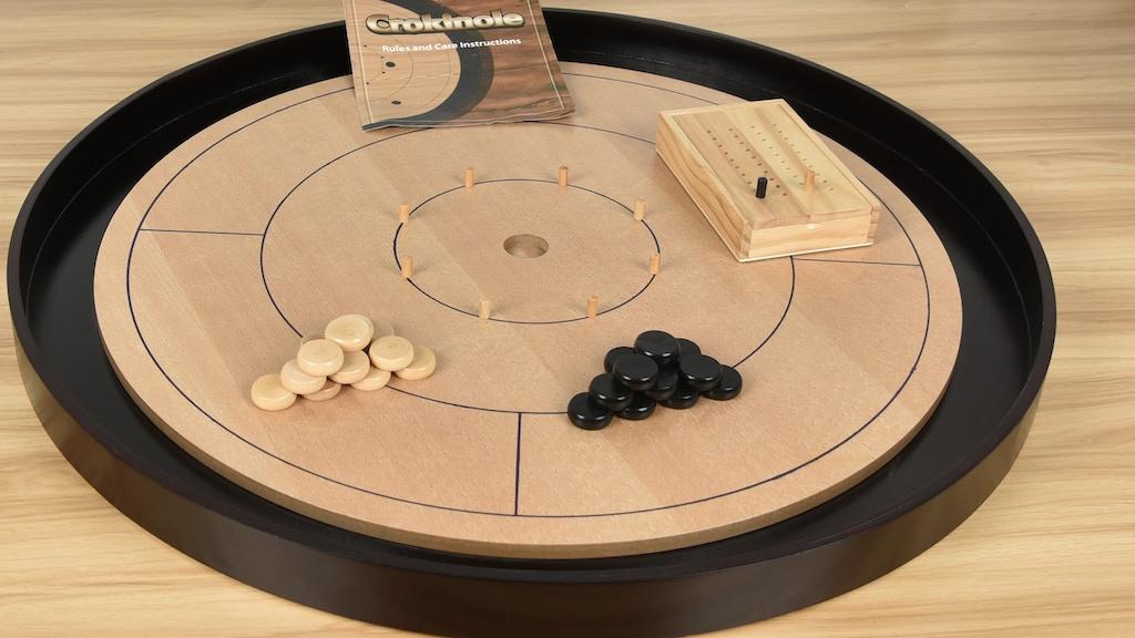 Crokinole 2018 Beech Hardwood 2-4 Player Dexterity Game project video thumbnail