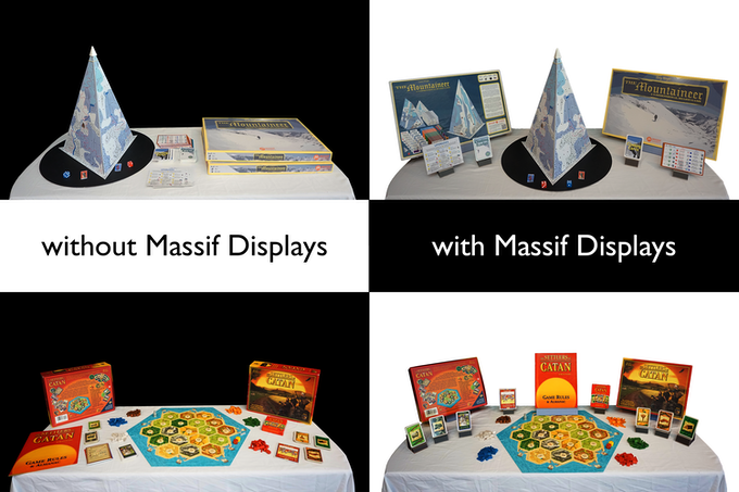 Just a few sets of Massif Display stands can make a noticeable difference to your publisher stand at a conference.