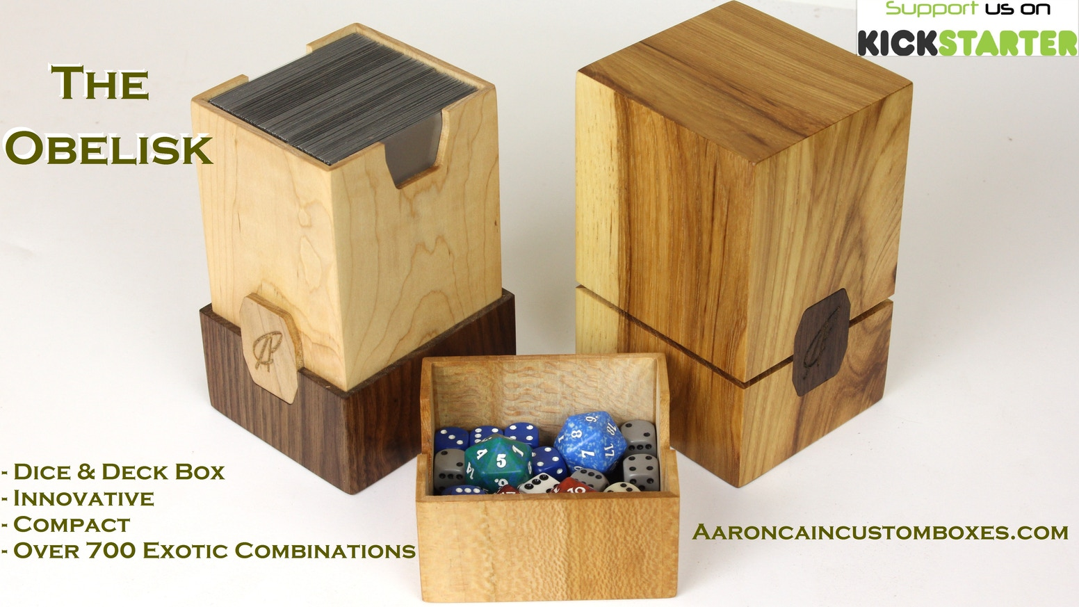 The Obelisk Deck Dice Box By Aaron Cain By Aaron Cain Kickstarter