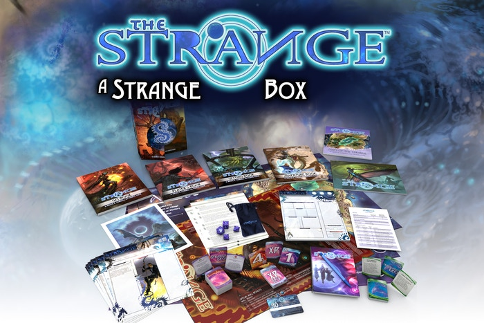 An Exclusive Boxed Set Edition for The Strange RPG, bursting with over 20 stretch goals of amazing components and new content.