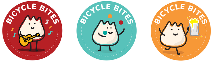 A reward option: stickers for your helmet! Illustrations by Janel Wong.
