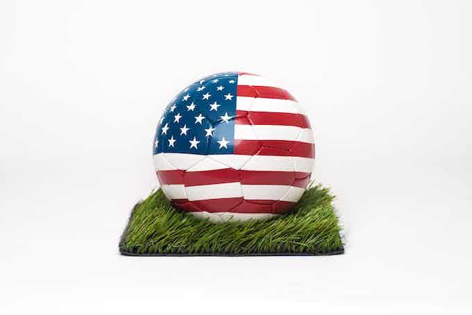 USA FLAG football / soccerball - design patented by Balldesigner