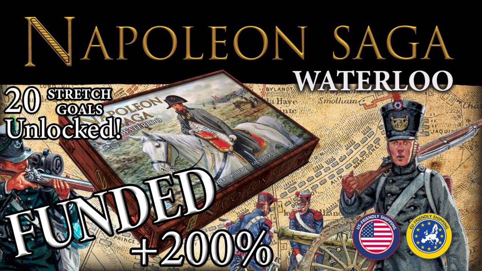 A 2 player tactical board game of Napoleonic warfare during the first Empire.