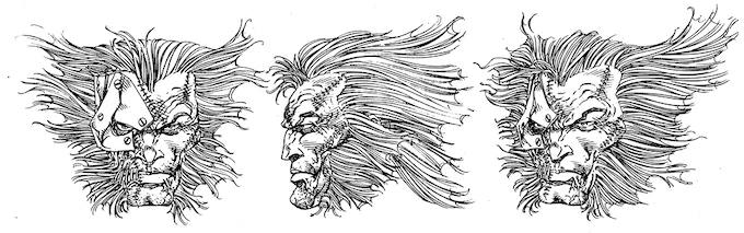 Toy sculptural drawing - Marvel Legends Wolverine.