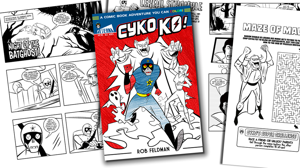 Cyko KO: A Comic Book Adventure You Can Color! project video thumbnail