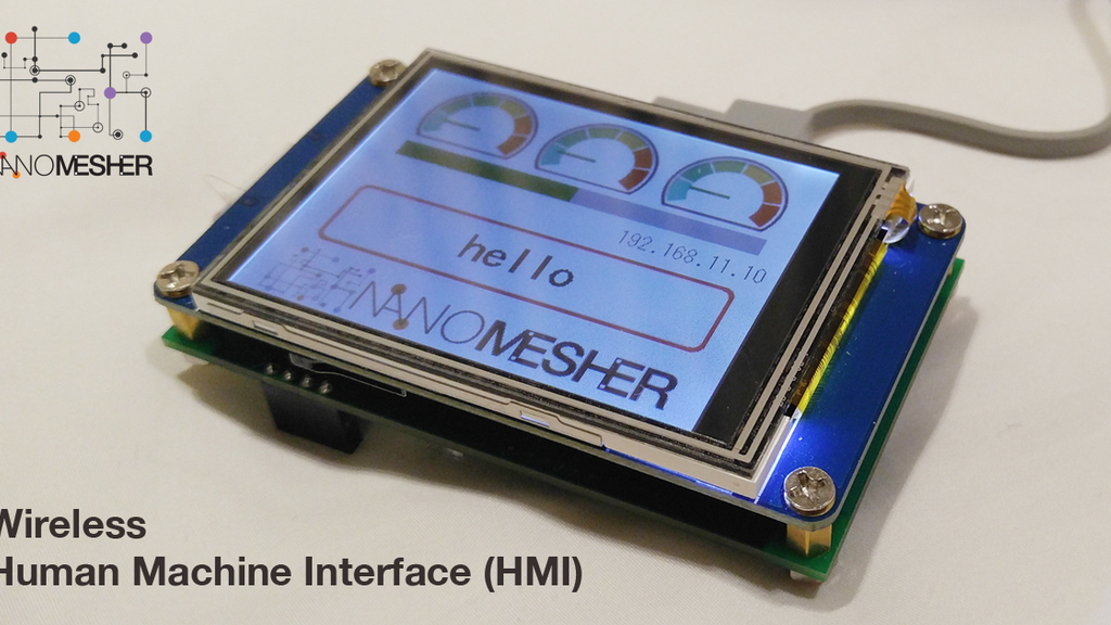 Wireless Human Machine Interface (Display with touch screen) project video thumbnail