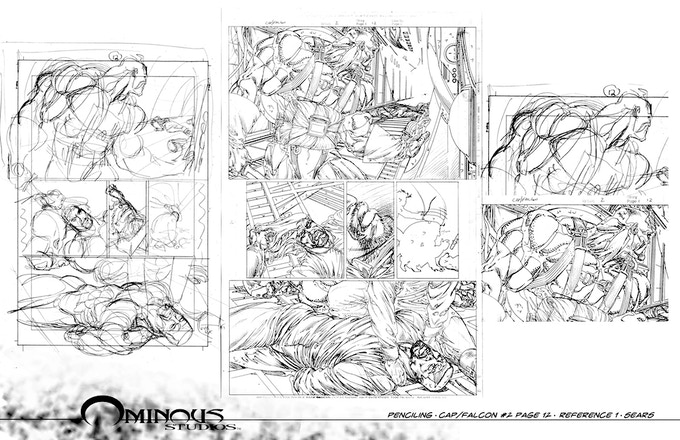 How rough drawing becomes final pencils.