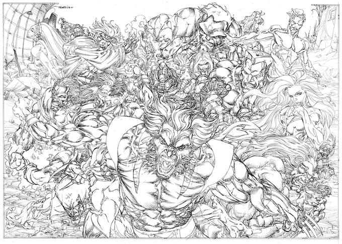 X-Men commission artwork.