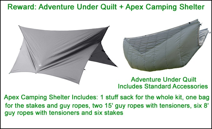 Click Photo for Apex Camping Shelter Details