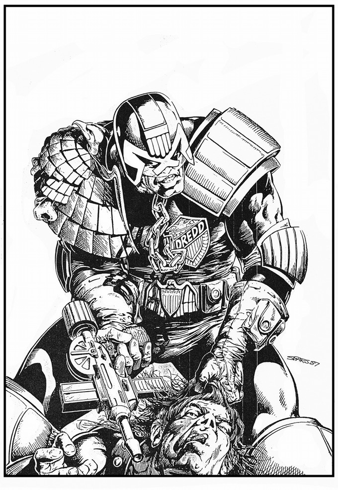 Judge Dredd cover art.