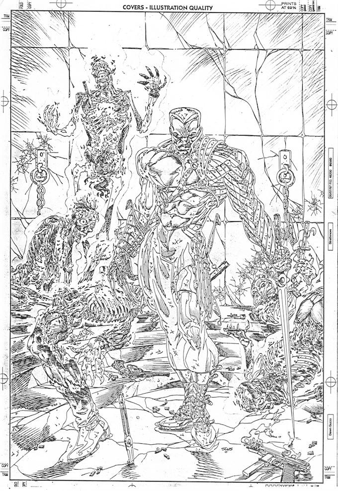 """""""Blade"""" #1 cover art, pencils."""