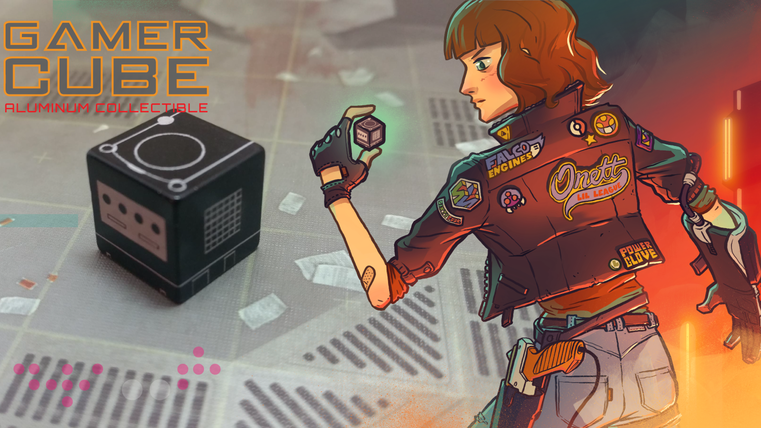 Show your love for the greatest cube-shaped gaming machine with a tiny metal collectible. Custom designed to be awesome.