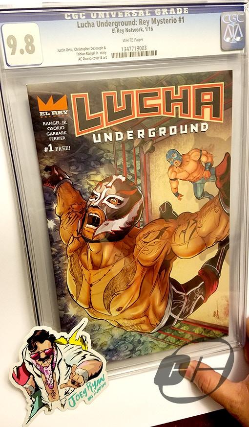 Lucha Underground: Rey Mysterio #1 CGC 9.8 (Only 10 in existence)