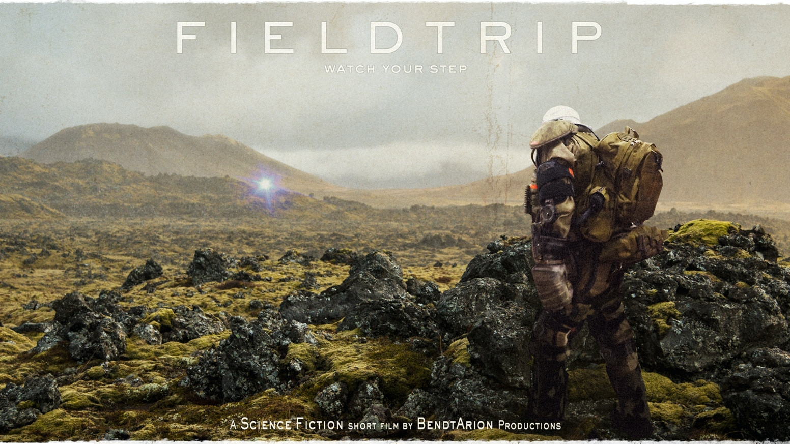 FIELDTRIP is a Sci-Fi short film about a man inside a robotic spacesuit, who must navigate through his own minefield