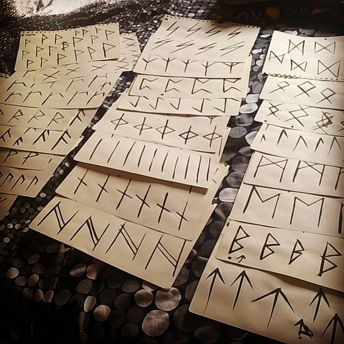 Design of Futhark Alphabet.