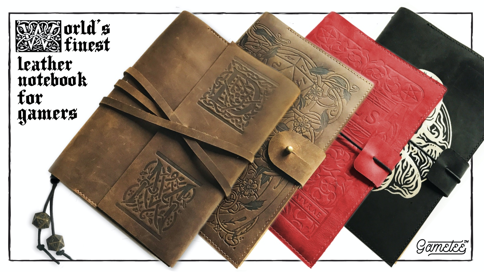 Your new Handcrafted Leather Notebook - - A companion to perfectly organised tabletop roleplaying gaming sessions - and more!
