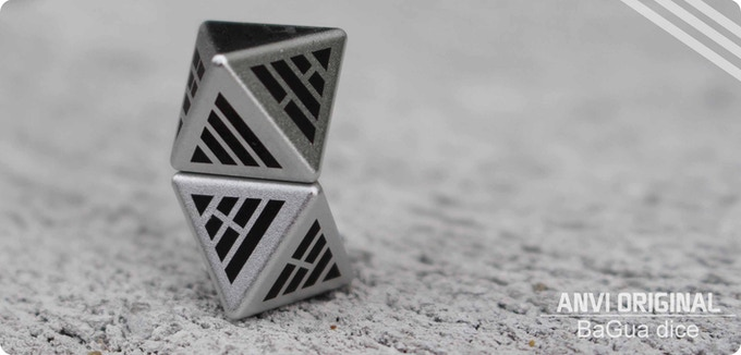 The body of BaGua dice is made of top quality Aluminum