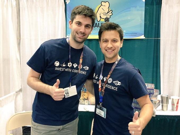 Seth Van Orden (left) and Brett Sobol (right) at the end of Gen Con 2016