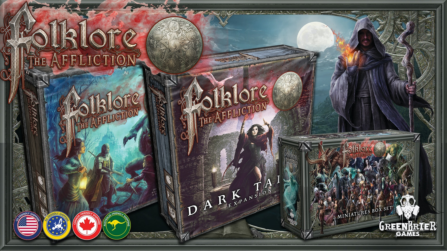 A cooperative/solo adventure board game of mystery, fear, and dark fantasy.