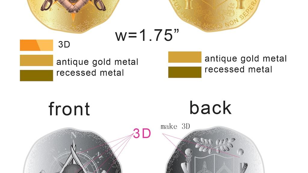 Pirate Challenge Coin with Freemason/Masonic symbolism by Zak ...