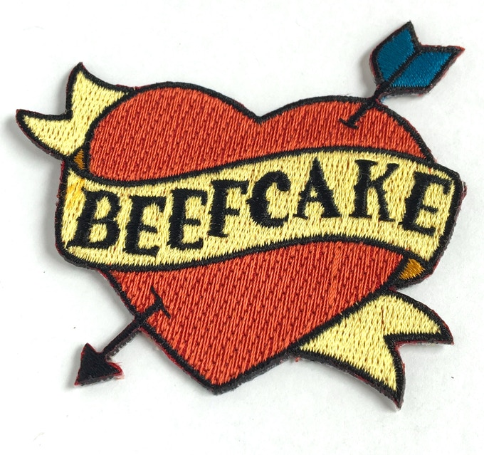 Embroidered heart patch