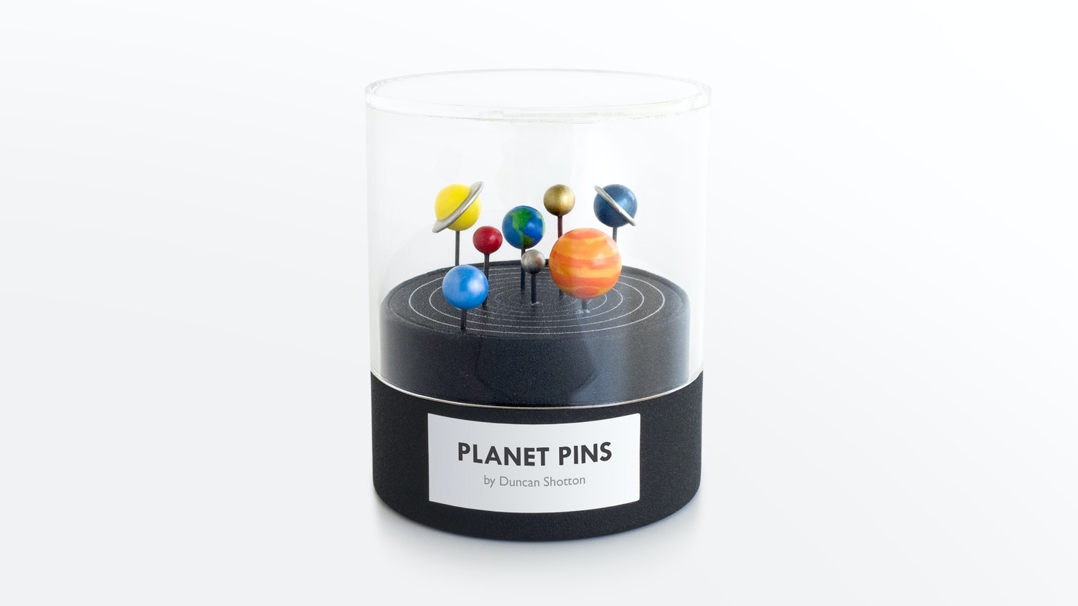 Hand-painted solar system stationery.