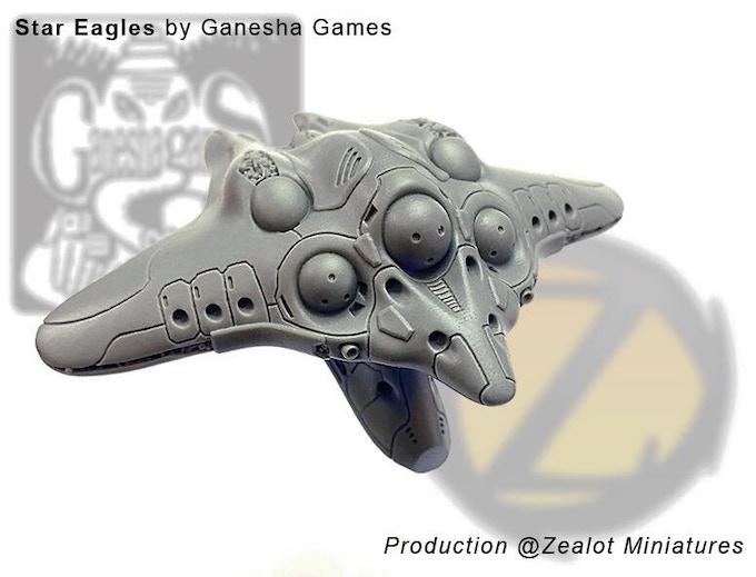 S'Sekai 'Manta' heavy fighter actual resin model.