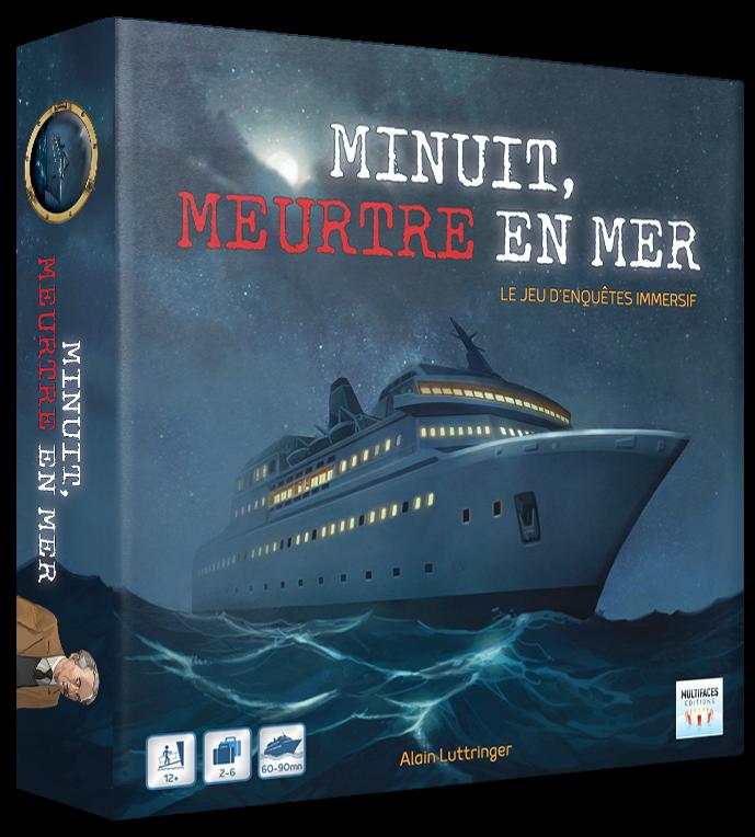 Un jeu d'enquêtes policières scénarisées sur un navire de croisière (jeu de société : jeu de plateau compétitif, pour 2 à 6 joueurs)