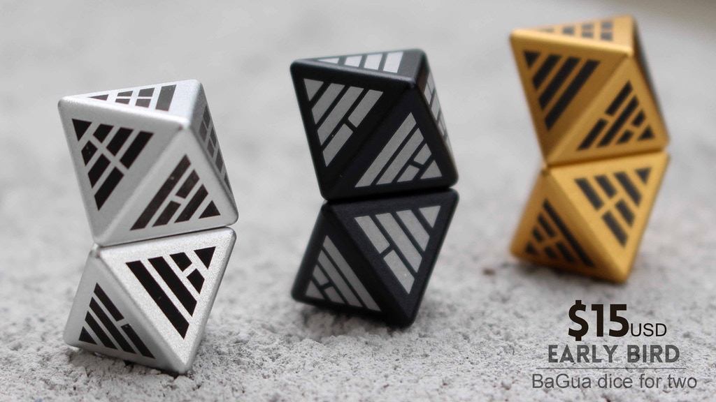 BaGua dice:Metal Binary dice made with ancient symbols project video thumbnail