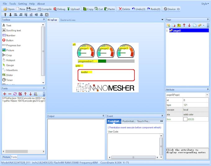 Using Nextion Editor to Design Interface
