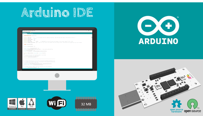 Fully compatible with the Arduino IDE