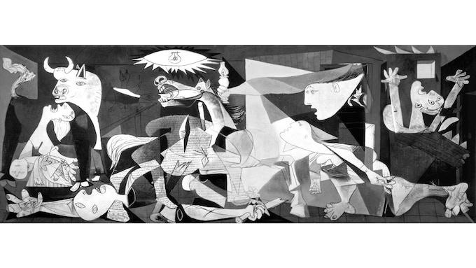 Pablo Picasso, Guernica, 1937, mural-size