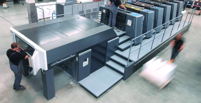 This is the actual Heidelberg Speedmaster XL 105 that prints Mouse Books!